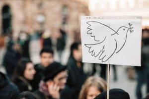 Bild på en fredsdemonstration